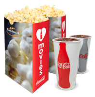 Popcorn and Drinks